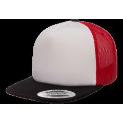 Кепка FlexFit 6005FW Trucker Black/White/Red