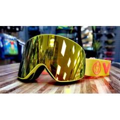 Горнолыжная маска VIZZO AFFECT   red mirror yellow frame